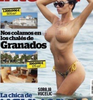 GLAVNA TEMA: Soraja u toplesu na naslovnoj strani španskog tabloida!