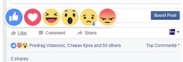 Stigle su Facebook reakcije!